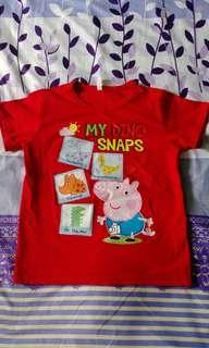 🚚 4歲9號紅色佩佩豬棉T上衣