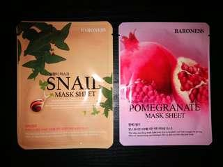 Baroness: Pomegranate & Snail Sheet Masks