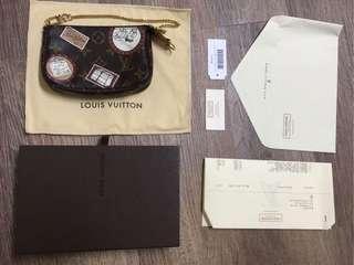 Louis Vuitton M95804 mini LV monogram 拉鍊手提包 金鍊 節慶絕版限量近9新