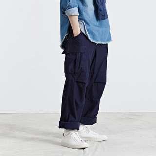 HOUSTON BDU 經典軍褲 深藍 寬鬆舒適