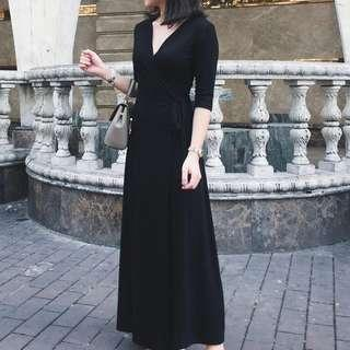 long dress black size M