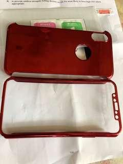 IPhone  X 紅色手機殼(送iPhone  X玻璃貼)