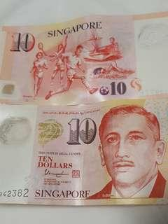 "ORDINARY  $10 notes.....nothing special                                                                                                          🆎  No  ""SG50""  printed in these ordinary $10 notes."