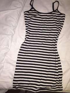 Tight Stripped Bodycon Dress