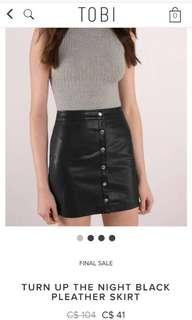 BNWT TOBI LEATHER SKIRT