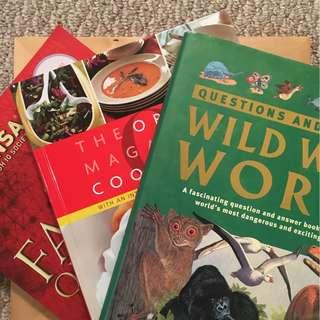 Wild Wild World Questions & Answers, The Oprah Magazine Cookbook, and The Family Quiz Book