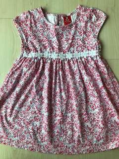 Tiny Button ditsy dress