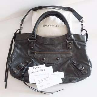 2a254976647e Balenciaga Motorcycle Bag Shoulder Sling or Hand Carry Anthracite The First