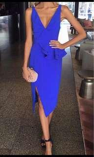 Sheike blue halogen dress