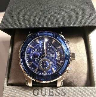 Guess watch (blue with black leather) 42mm