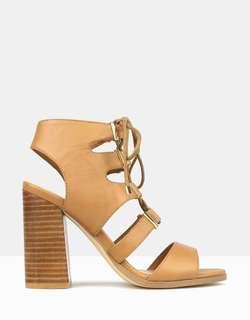 Tan block heels