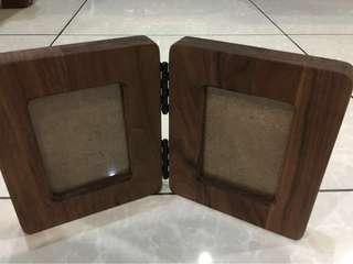 Solid wood photo frame wit glass