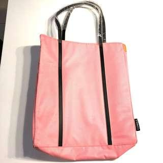Clinique pink tote bag