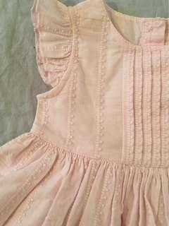 BRAND NEW Petal Pink Vintage Style Broderie Anglaise Dress, with matching bloomers