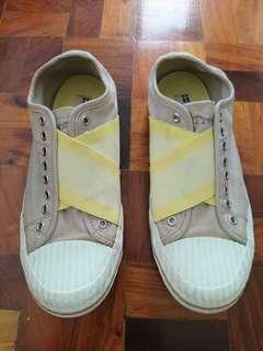 Tretorn Skymra Canvas Goat Gray/Yellow Sneakers