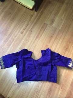 Purple Saree blouse
