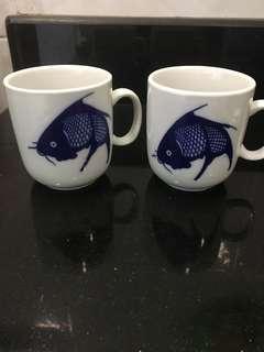 Fish Porcelain cups