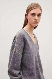COS merino jumper in grey