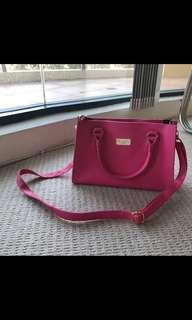 Hot pink mini tote bag