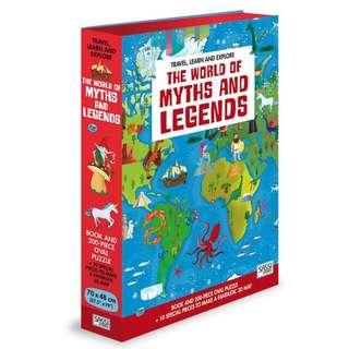 The world 🗺 of myths and legends puzzle 🎁 Birthday Gift 💝