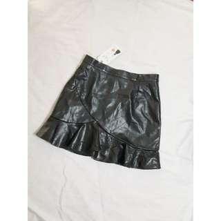 🛍PU皮魚尾半身裙 黑色