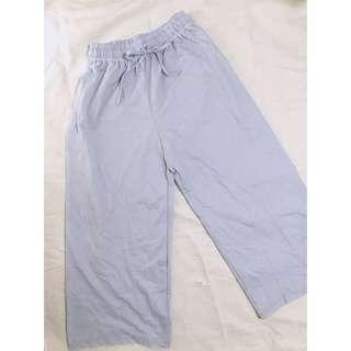 薄身闊腳褲 粉藍色