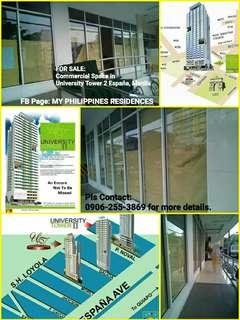 Commercial Space For Sale in UBelt España Manila just across UST Morayta