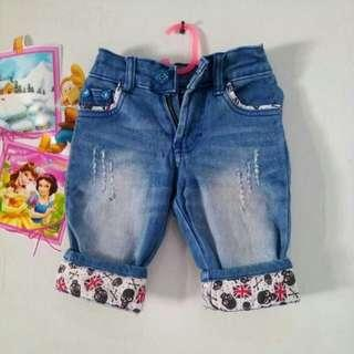 Jeans anak stik balik