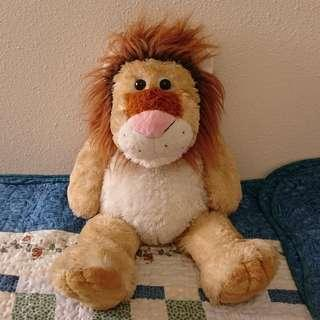 Large lion stuffed toy from Singapore Zoological Gardens