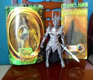 The Lord of the Rings Flaming Ringwraith + Newborn Lurtz + Dark Lord Sauron Action Figures