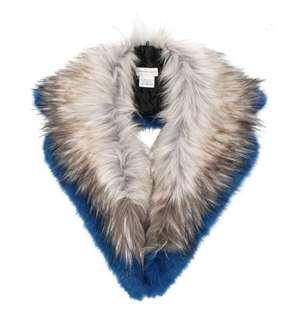 Dries Van Noten  furry scarf  blue