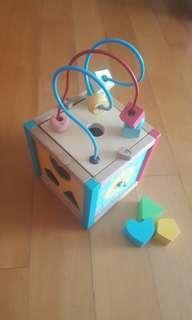 Wooden toy activity box