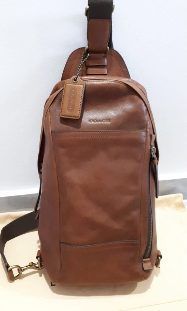 9c397f053a0a 100% Authentic Men Coach Sling Bag