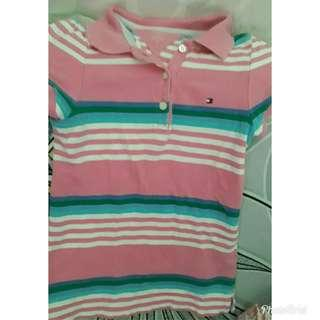 Polo shirt for girl kids tommy hilfinger brand for 3 yo 5 yrs old