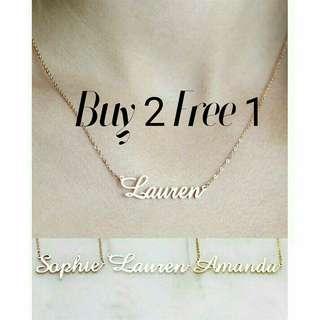 Buy 2 Free 1 custom necklace