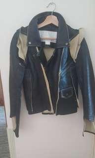 Maison Martin Margiela × H&M black leather jacket