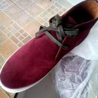Maroon Casual High Shoes