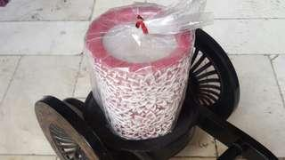 Ceramic Candle- Red Violet