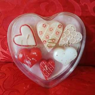 Heart shape mini candles