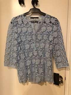 Zara Powder Blue Top (S)
