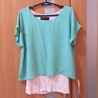 Dorothy Perkins light green blouse