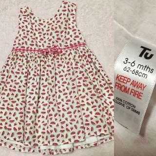 Watermelon baby dress