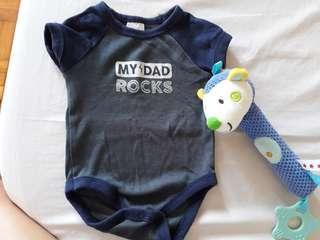 Newborn onesie(my dad rocks)