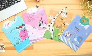 🚚 A4 Animal Paradise Plastic Files @ $1 per pc or 80c per pc for 10 pcs and above!!!