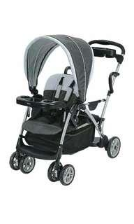Brand New Graco Roomfor2 Click Connect Stand and Ride Stroller, Gotham