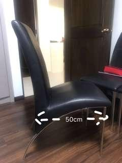 Synthetic leather dining chair 4ps