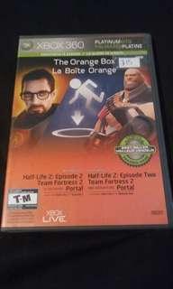 The orange box xbox 360. Portal, half life 2, tean fortress 2