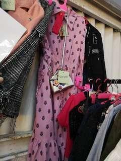 Pink collar floral dress