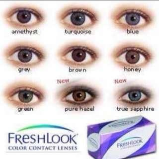 Fresh look contact lenses
