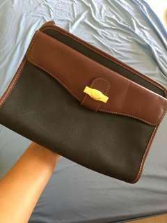 Dunhill vintage leather clutch bag